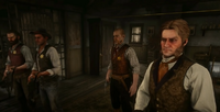 Jock Gray, Archibald MacGregor, Leigh Gray and an unnamed deputy inside the Sheriff Office