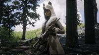 Legendary Milk Coyote Coat and hat RDO PROMO