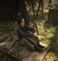 RDR2 Abigail at rest