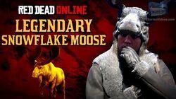 Red Dead Online - Legendary Snowflake Moose Location Animal Field Guide