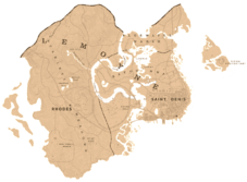 A map showing the shape and the borders of Lemoyne