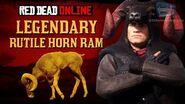 Red Dead Online - Legendary Rutile Horn Ram Mission Animal Field Guide