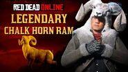 Red Dead Online - Legendary Chalk Horn Ram Location Animal Field Guide