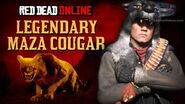 Red Dead Online - Legendary Maza Cougar Location Animal Field Guide