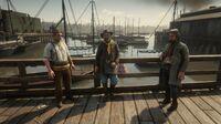 Lemoyne Raiders random encounter near the docks in Saint Denis