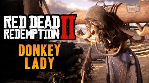 Red Dead Redemption 2 Easter Egg 9 - The Donkey Lady