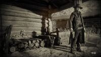 Npc with Schofield revolver at Colter in loading screen
