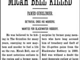 Micah Bell Killed