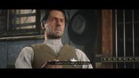 Sheriff Jones during a bounty hunting cutscene