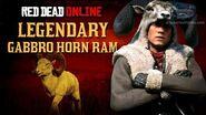 Red Dead Online - Legendary Gabbro Horn Ram Location Animal Field Guide
