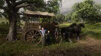 German family and wagon