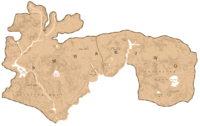 A map showing the shape and the borders of Ambarino
