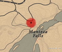 Manteca Falls hideout on the Red Dead Online map