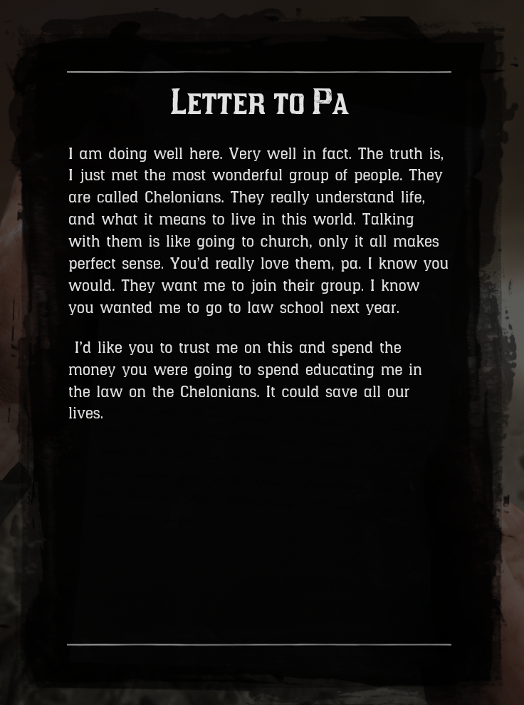 Letter to Pa