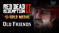 RDR2 PC - Mission -3 - Old Friends -Replay & Gold Medal-