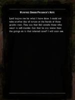 Murfree Brood Prisoner's Note read