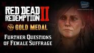 RDR2 PC - Mission 25 - Further Questions of Female Suffrage Replay & Gold Medal
