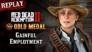 RDR2 PC - Mission 92 - Gainful Employment Replay & Gold Medal