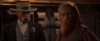 Lee with Marshall Tom Davies in the cutscenes