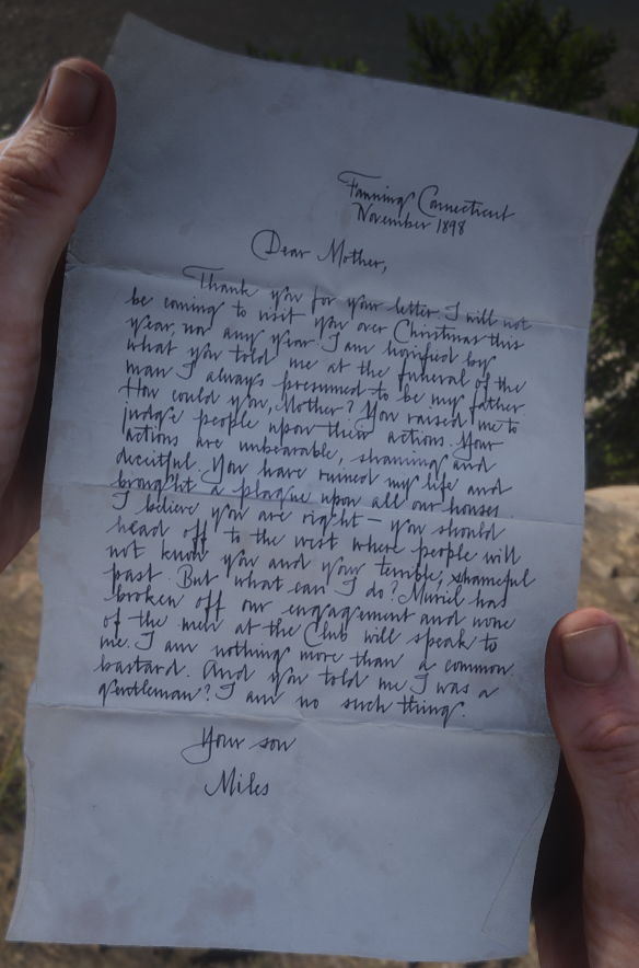 Letter to Mother from Miles