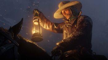 RDR2 man holds lantern up.jpg