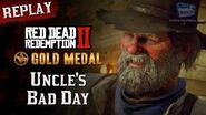RDR2 PC - Mission 100 - Uncle's Bad Day Replay & Gold Medal