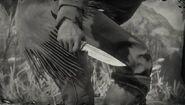 Couteau en bois de cerf