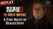 RDR2 PC - Mission 50 - A Fine Night of Debauchery Replay & Gold Medal