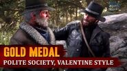 Red Dead Redemption 2 - Mission 8 - Polite Society, Valentine Style Gold Medal