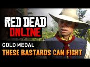 Red Dead Online - Mission -11 - These Bastards Can Fight -Gold Medal-