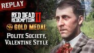 RDR2 PC - Mission 8 - Polite Society, Valentine Style Replay & Gold Medal