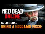 Red Dead Online - Mission -9 - Bring a Goddamn Posse -Gold Medal-