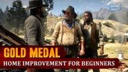 Red Dead Redemption 2 - Mission 98 - Home Improvement for Beginners Gold Medal