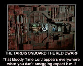 The tardis onboard the red dwarf by doctorwhoone-d5327pq