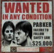 Parker wanted sign rf1