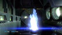 Mallus piloting Inferno GX to escape the defense core