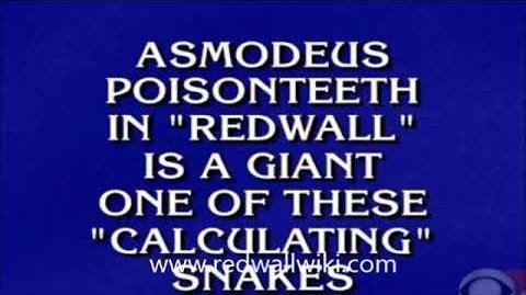 Redwall on Jeopardy - March 9, 2018
