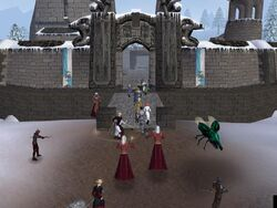 Syrtian players attack Imperia Castle.