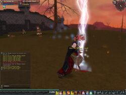 A Warlock during Combat
