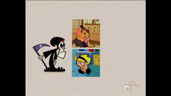 Casillas (Stacked 2 Grid With Character Outside) Characters are not just restricted to their squares, this example features the main characters of The Grim Adventures of Billy and Mandy.