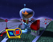 Astronaut From The Space FoxRiders Level