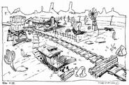 Storyboard of the Western FoxRiders Level by Yan Le Pon
