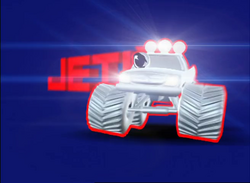 "Jetix's Mascot ""J"" as a Monster Truck"