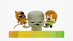 Cartoon Network Latin America Toonix Bumper Featuring Scooby-Doo, Shaggy and a Mummy.