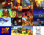 "Fox Kids Europe Game ""FoxRiders"" Rebrand Package"