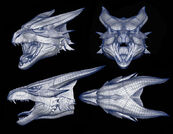 Wireframe for the Bull Dragon's head.