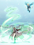 Wendy and Lightning Demonstating their Abilities
