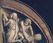 Ghent Altarpiece A - Cain - Abel - sacrifice
