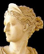 Greek deity head left icon