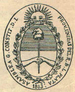 Sello asamblea soberana - Argentina 1813